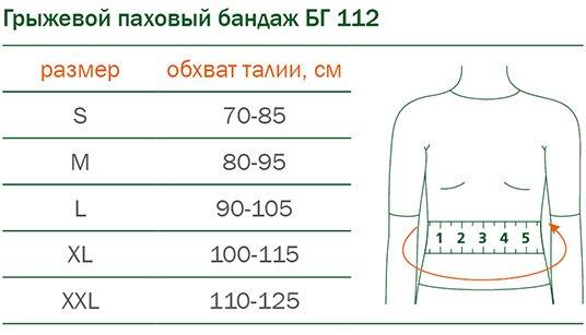 БАНДАЖ ГРЫЖЕВОЙ ПАХОВЫЙ ORTO БГ-112