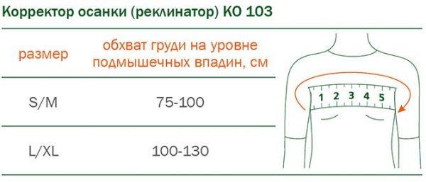 КОРРЕКТОР ОСАНКИ (РЕКЛИНАТОР) ORTO КО-103
