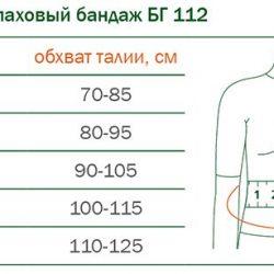 БГ-112 БАНДАЖ ГРЫЖЕВОЙ ПАХОВЫЙ ORTO БГ-112