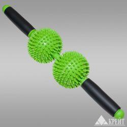 Массажёр ручной (2 игольчатых мяча с ручкой) Крейт