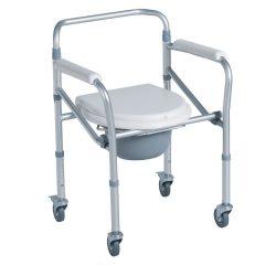 Купить кресло-туалет на 4 колесах складное CA615 Тривес