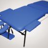 Массажный стол трёхсекционный (мет./иск.кожа)