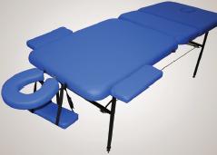 Массажный стол трёхсекционный (мет.иск.кожа) 1