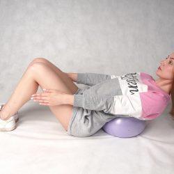 Мяч для фитнеса и дыхательной гимнастики 25см Ортосила L 0400