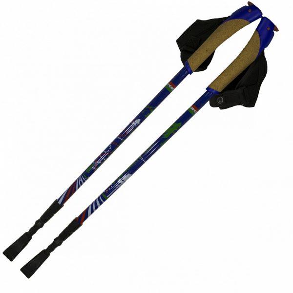 Палки телескопические для скандинавской ходьбы из карбона Ergoforce Е 0680