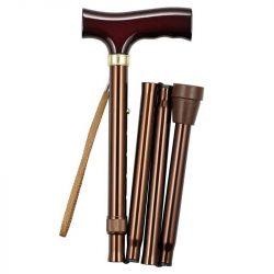 Купить трость складная с Т-образной ручкой и ремешком, цвет бронза TN-131 Тривес