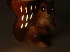 Светильник соляной электрический декоративный с лампой накаливания Белка малая (керам) ARMED 1