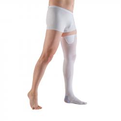 Купить Противоэмболические чулки Hospital thrombo18 VENOTEKS 1A211 на поясе, 1 класс, закрытый носок, белые